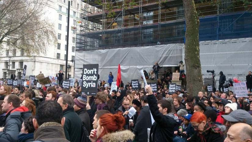 "Stop the War Coalition rallies and asks Cameron: ""Don't Bomb Syria"""