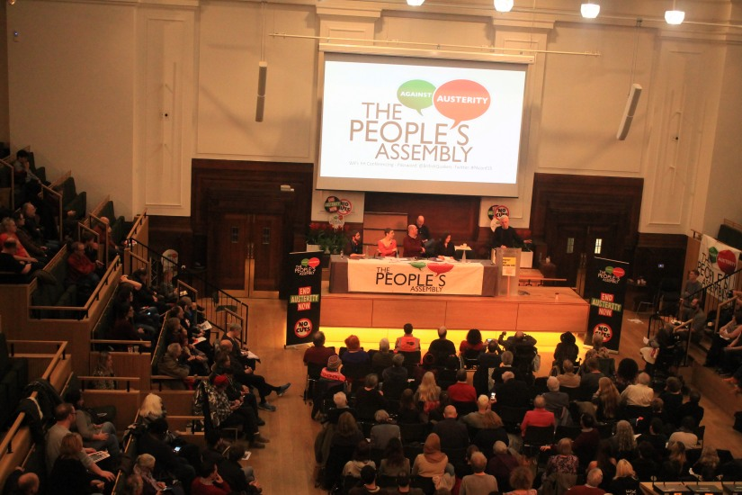 The People's Assembly is against bombing and hosts McDonnell and Bennett