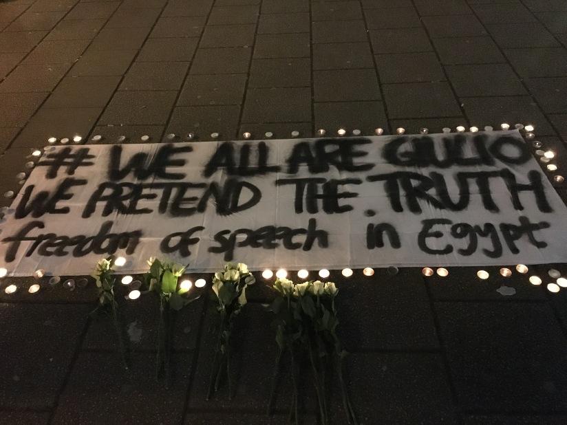 Vigil for researcher Giulio Regeni atSOAS